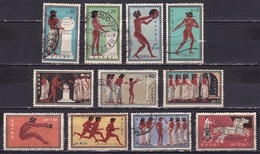 GREECE 1960 Olympic Games Rome Complete Used Set Vl. 800 / 810 - Griekenland