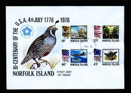 A5334) Norfolk Islands FDC 5.7.76 200 Years Of US - Norfolkinsel