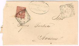 X1538 2 Centesimi Stemmi - 1901 Viaggiata Da Frosinone A Amaseno (Frosinone) - Storia Postale