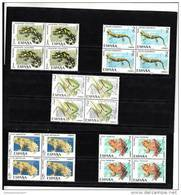 España Nº 2272 Al 2276 En Bloque De Cuatro - 1971-80 Unused Stamps