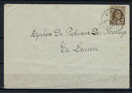 N°255 GESTEMPELD Diest OP OMSLAG NAAR Procureur Des Konings SUPERBE - 1922-1927 Houyoux