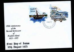 A5335) Norfolk Islands FDC 18.08.75 - Norfolkinsel