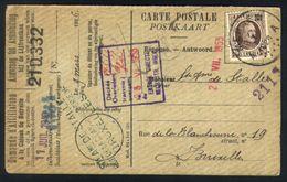 Z06 - Aanvraag Aansluiting Lijfrentkas - OBP 196 - Merxem 1926 - 1922-1927 Houyoux
