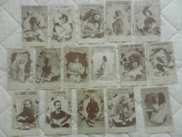 LOT De 16 CPA Repro CARTES ANCIENNES  Artistes Hommes Célèbres JOURNAUX - Unclassified