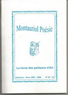 MONTAURIOL Poésie Automne Hiver 2005-2006 N° 62-63 - Poetry