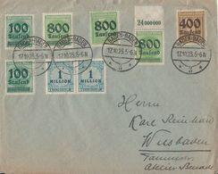 DR Brief Mif Minr.2x 290,300,301,304 OR, 308,2x 314 Baden Baden 17.10.23 - Deutschland