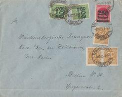 DR Brief Mif Minr.3x 275, 292, 2x 302 Brandenburg 8.10.23 - Deutschland