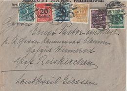 DR Brief Mif Minr.274,275,276,280,285,290 Mannheim 28.9.23 - Deutschland