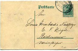 """6_162 Entier Postal Cachet Ambulant """"Strassburg - Westhofen Zug 457 - Allemagne"""