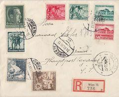 DR R-Brief Mif Minr.662,672,673,674,675,676,684,685 Wien 21.12.38 Gel. Nach Brünn - Briefe U. Dokumente