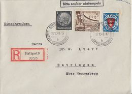 DR R-Brief Mif Minr.512,739,727 Stuttgart 18.10.40 - Briefe U. Dokumente