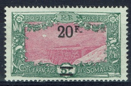 French Somali Coast, Railway, Holl-Holli, 20f/5f., 1924, MNG VF - French Somali Coast (1894-1967)