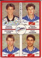 - Image Panini. FOOT 1995. CHARLEVILLE. Image De 4 Joueurs. N° 332 - - Panini