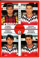 - Image Panini. FOOT 1995. GUINGAMP. Image De 4 Joueurs. N° 345 - - Panini