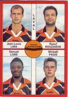 - Image Panini. FOOT 1995. LAVAL. Image De 4 Joueurs. N° 355 - - Panini