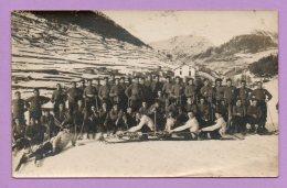 Foto Cartolina Militare  In Pista Da Sci - MIL173 - Guerra, Militari