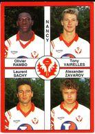 - Image Panini. FOOT 1995. NANCY. Image De 4 Joueurs. N° 367 - - Panini