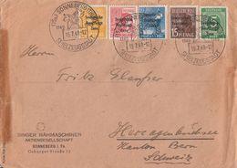 SBZ Brief Mif Minr.187,189,191,192,207 SST Sonneberg 15.7.49 Gel. In Schweiz - Sowjetische Zone (SBZ)