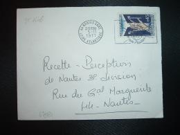 LETTRE TP YT 1648 LIBERATION DES CAMPS 0,45 OBL.MEC.5-11 1971 44 NANTES GARE LOIRE ATLANTIQUE - 1961-....