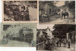 Collection Les ânes De La Bourboule X 8 Cartes éditions Différentes Dont Loueur - La Bourboule