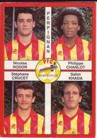 - Image Panini. FOOT 1995. PERPIGNAN. Image De 4 Joueurs. N° 379 - - Panini