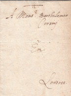 France Great Britain 1585 Corsini Correspondence Entire Letter From Rouen To London (q181) - ...-1840 Precursores