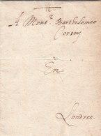 France Great Britain 1585 Corsini Correspondence Entire Letter From Rouen To London (q181) - Gran Bretagna