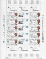 1988 Polynésie Française N° 311 A Nf** MNH . Feuille Complète .Eric De Bisschop. - Nuovi