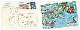 1973 SWEDEN Stamps COVER (postcard Finland Helsinki Heraldic Lion Ship) - Sweden