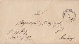Thurn & Taxis Brief K1 Detmold.T.&T. 1.3.1847 Gel. Nach Blomberg Mit Inhalt - Thurn Und Taxis