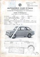 Fiat 850 Special.Automobile Club Of Italy 1968.Federation Automobile.Internationaler Automobilverband.Car. 2scn - Automotive