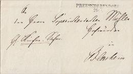 Preussen Brief L2 Preuss:Oldendorf 26.5. Ansehen Seltener Stempel - Preussen