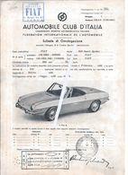 Fiat 850 Sport Spider.Automobile Club Italy 1968.Federation Automobile.Internationaler Automobilverband.Car. 2scn - Automotive