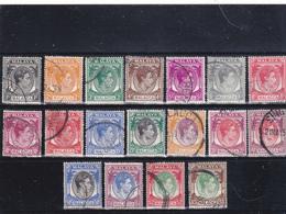 Malesia  Malacca 1949  Serie Timbrata Gibbons 3 17 Meno 8a 11a - Malacca