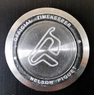 """Rare Jeton """"Tissot - Official Timekeeper - Word Championship F1 - Motogp - Circuit Nelson Piquet (Brésil) - Professionnels / De Société"""