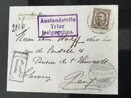Luxembourg Lettre Reco 1916 - 1906 Guglielmo IV