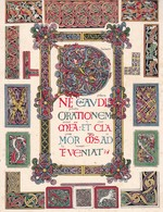 L'ORNAMENT IRLANDAIS-CELTIQUE. PEINTURE EN MINIATURE.-ART HISTORY LAMINA SHEET PLANCHE-BLEUP - Posters