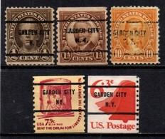 """USA Precancel Vorausentwertung Preo, Locals """"GARDEN CITY"""" (NY). - Stati Uniti"""