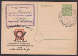Dresden Bad Weisser Hirsch Ganzsache Mit Privatem Zudruck Jahrestag Potzschta - Amerikaanse, Britse-en Russische Zone