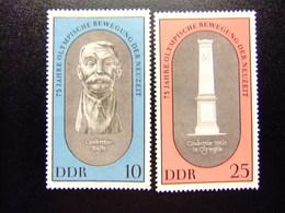ALLEMAGNE ORIENTALE DDR 1969 75º ANNIVER. RÉNOVATION JEUX OLYMPIQUES Yvert 1185 / 1186 (*) - [6] República Democrática