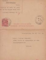 Entier Carte-lettre Réponse Italienne Adressée à Sainte-Adresse. - Guerre 14-18