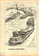 Lastkähne Auf Dem Rhein /Druck, Entnommen Aus Kalender /1959 - Books, Magazines, Comics