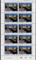 1993 Polynésie Française N°  445 446 447 448  Nf** MNH .  4 Feuilles Complètes . Artistes-peintres En Polynésie. - French Polynesia