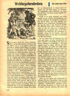 Weltbegebenheiten Bis Ende Juni 1958 /Artikel, Entnommen Aus Kalender /1959 - Books, Magazines, Comics