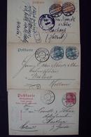 Duitsland D.Reich 3x Postkarte 1916 Leipzig Pasewalk  Stempel: Auslandstelle Freigegeben   3 - Deutschland