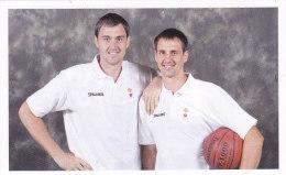 Slovenia Basketball Cards  Stickers - Nr. 86 Domen & Erazem Lorbek - Non Classificati