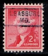 """USA Precancel Vorausentwertung Preo, Locals """"LEASBURG"""" (MO). - Preobliterati"""