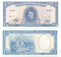 Chile - 1/2 Escudo 1962 - 1975 UNC Pick 134Aa Serie G 21 Ukr-OP - Chile