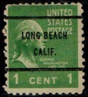"USA Precancel Vorausentwertung Preo, Locals ""LONG BEACH"" (CALF). - Stati Uniti"