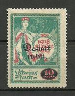 LATVIA Lettland 1921 Michel 69 * - Latvia